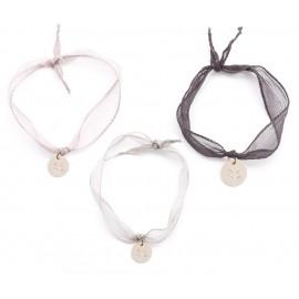 Bracelet ruban & médaille pour la Voix De l'Enfant
