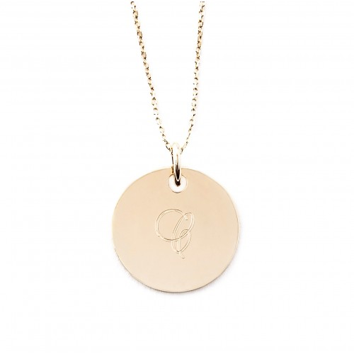 Médaille Jeanne 19 mm gravée 1 lettre