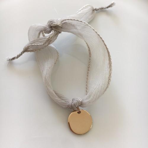 Bracelet Médaille Plaqué Or Jaune