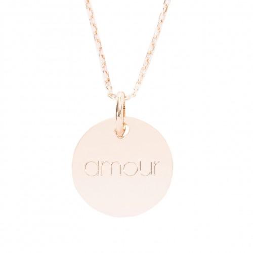 Collier Médaille amour