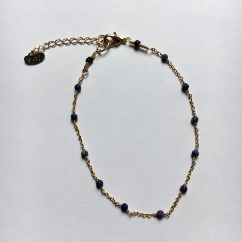 Bracelet Burano Plaqué Or Jaune & Lapis-lazuli