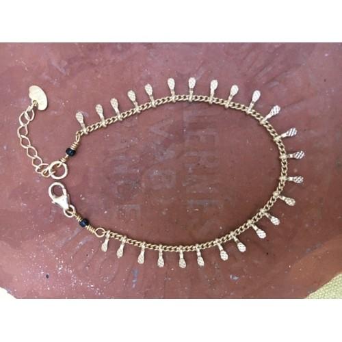 Bracelet Epi en Plaqué Or Jaune